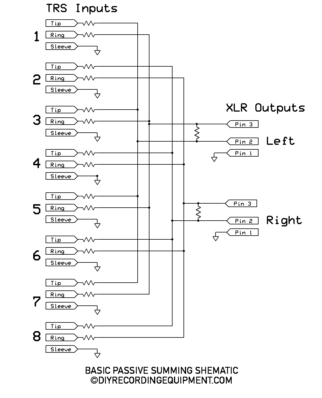 Summing Box Wiring Diagram - Wiring Diagram K8 on